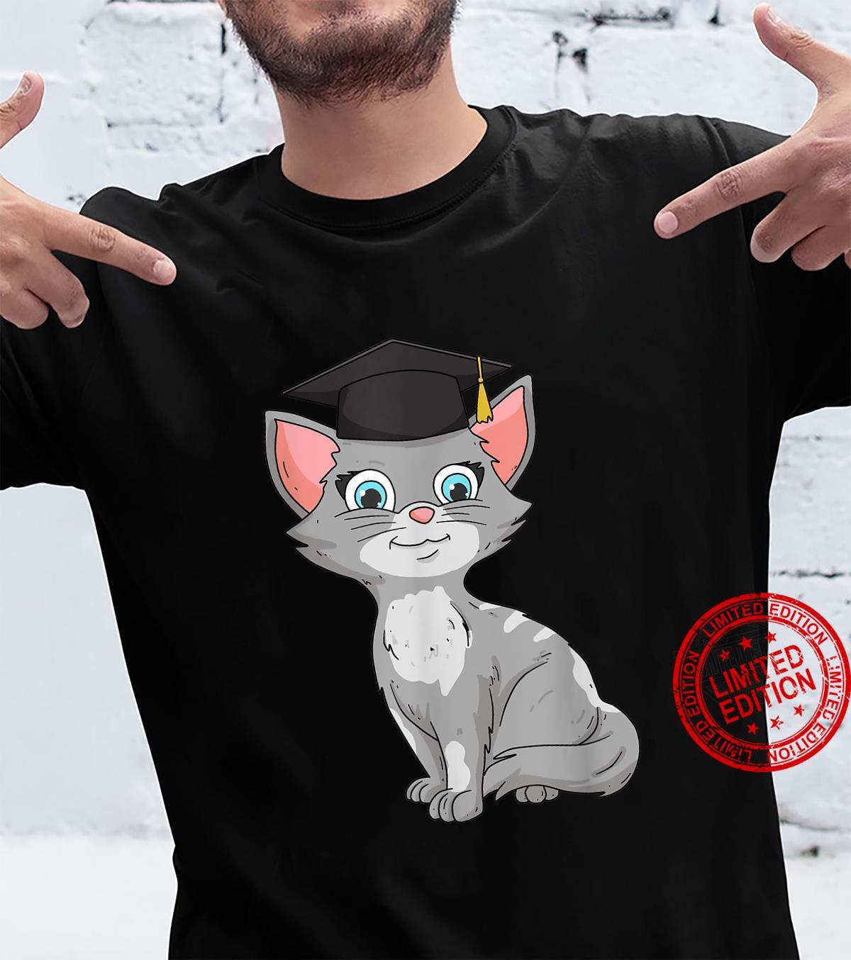 Bachelor Master Katzen Geschenk zum Abschluss 2021 Absolvent Shirt