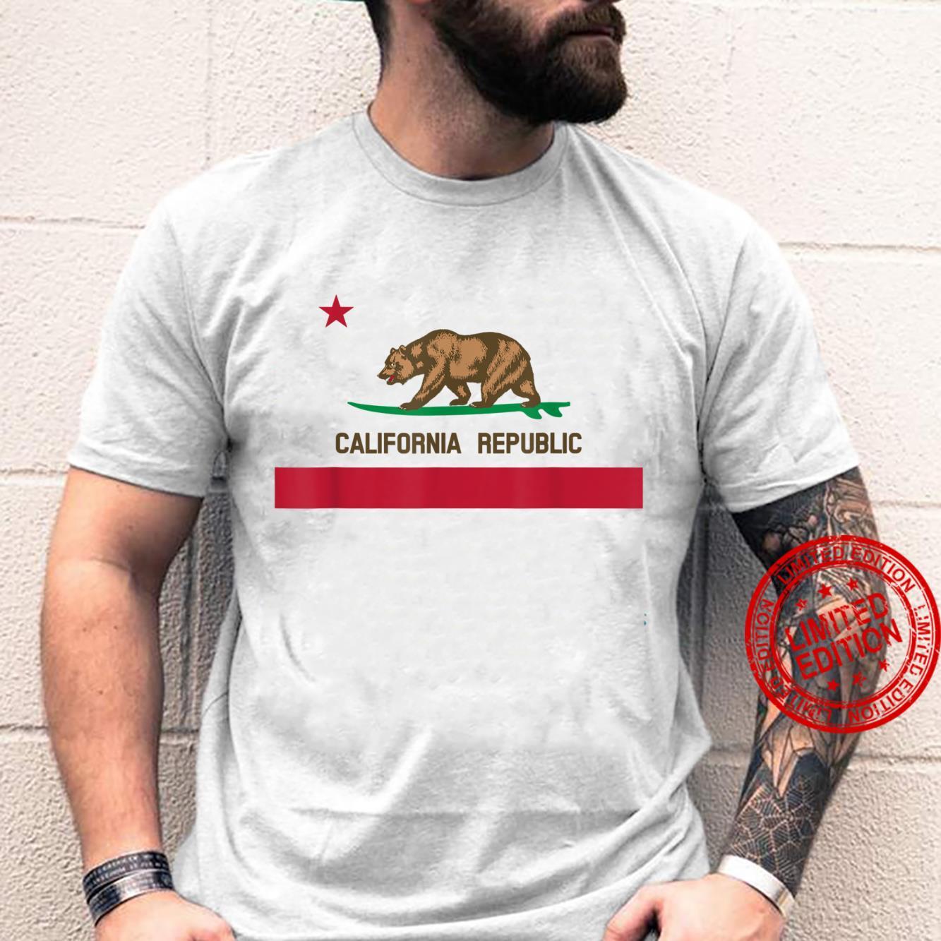 California Republic Surf Bear State Flag Shirt