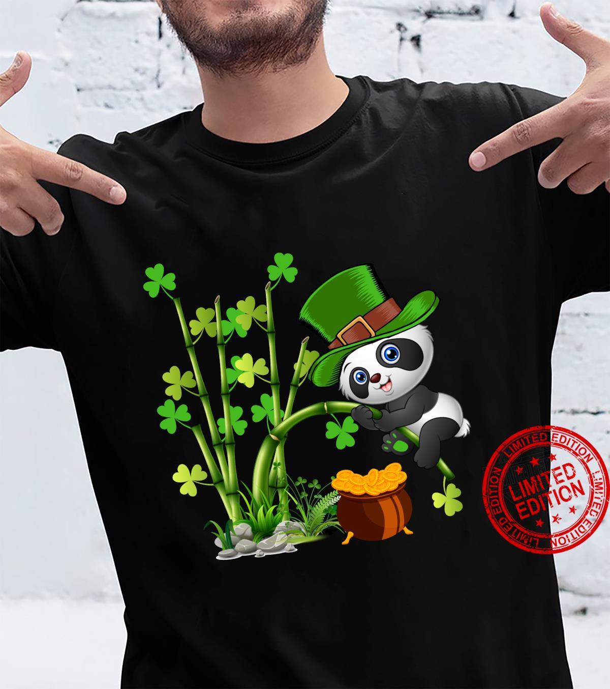 Cute Panda Irish Leprechaun St. Patrick's Day Shirt