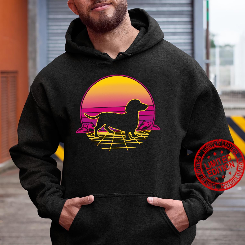 Dachshund Dog Puppy Retro Vintage Sunset Shirt hoodie