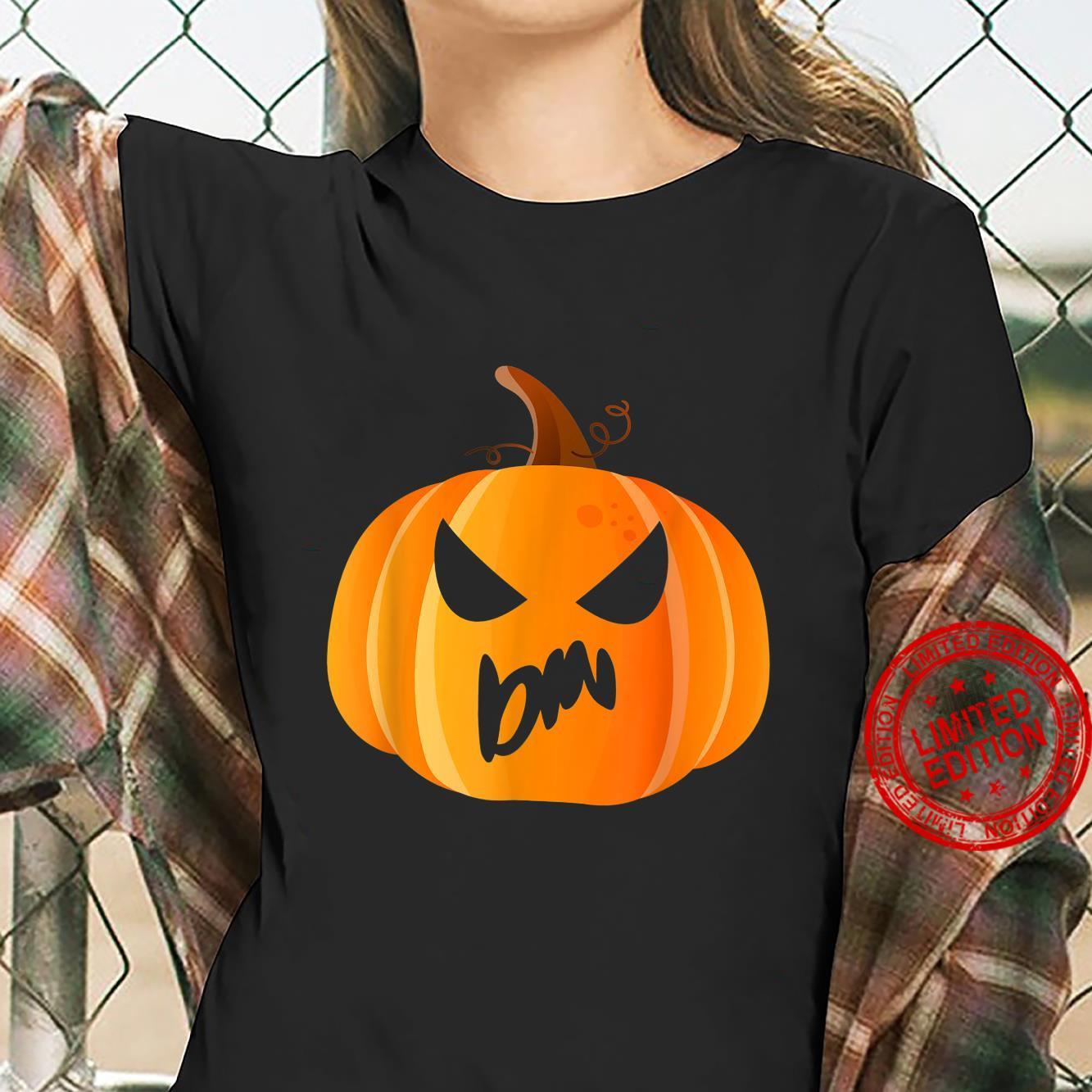 Din Name Custom Pumpkin Personalized Halloween Shirt ladies tee