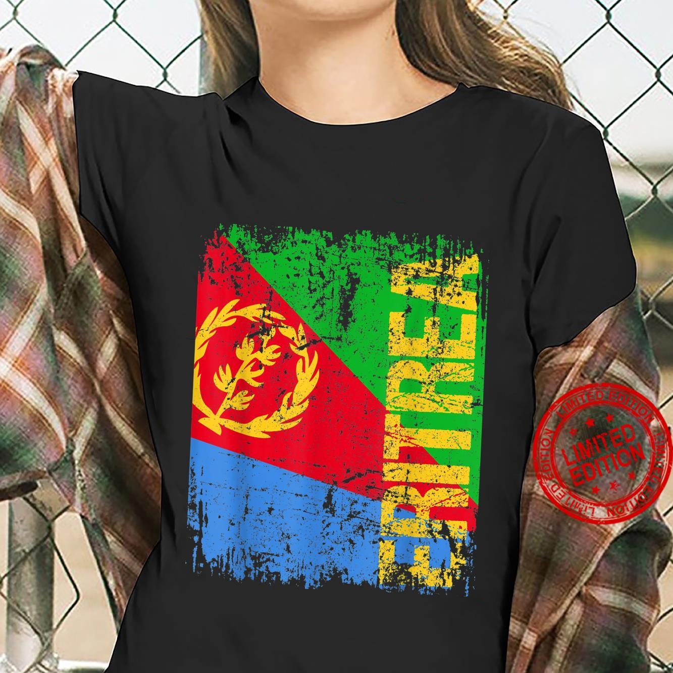 ERITREA Big Flag Vintage Distressed ERITREA Shirt ladies tee