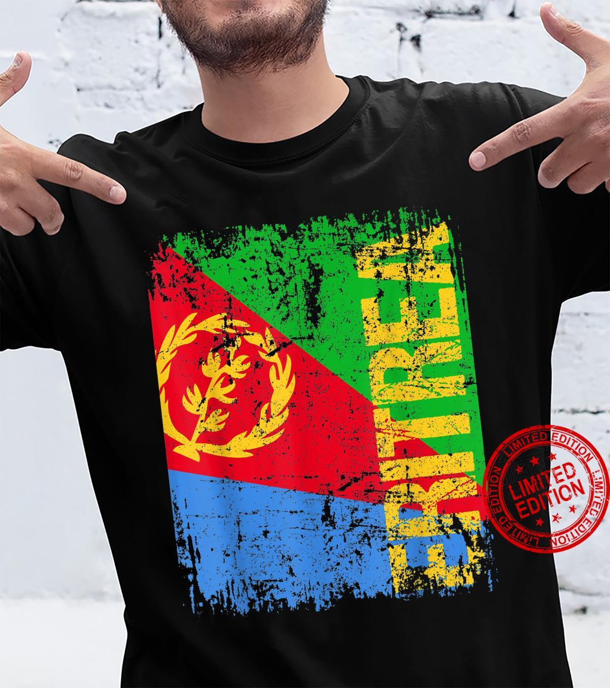 ERITREA Big Flag Vintage Distressed ERITREA Shirt