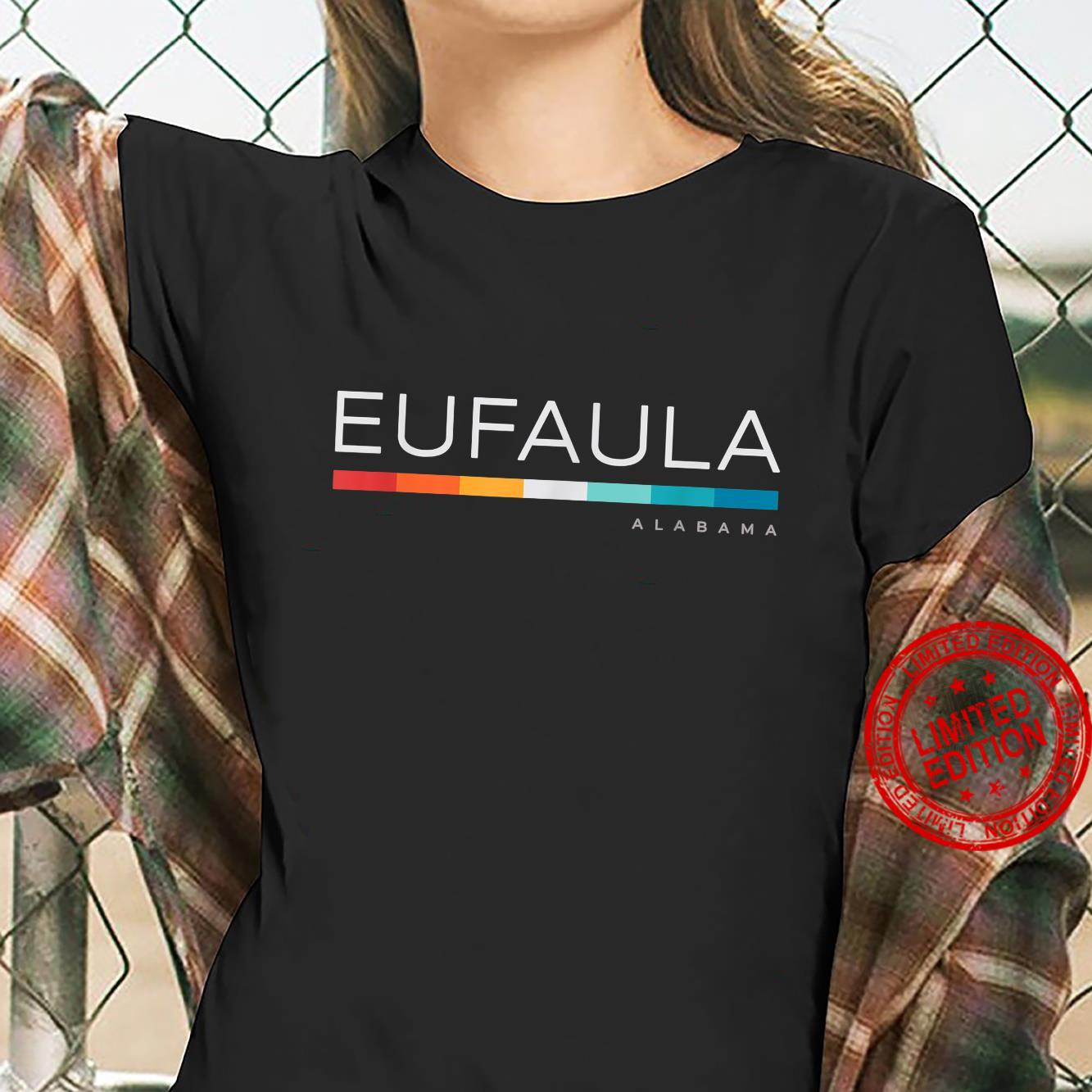 Eufaula AL Alabama Retro Design Shirt ladies tee
