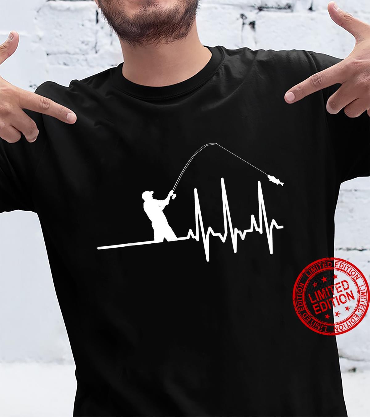 Fishing Fan Fisherman Heartbeat Cool Shirt