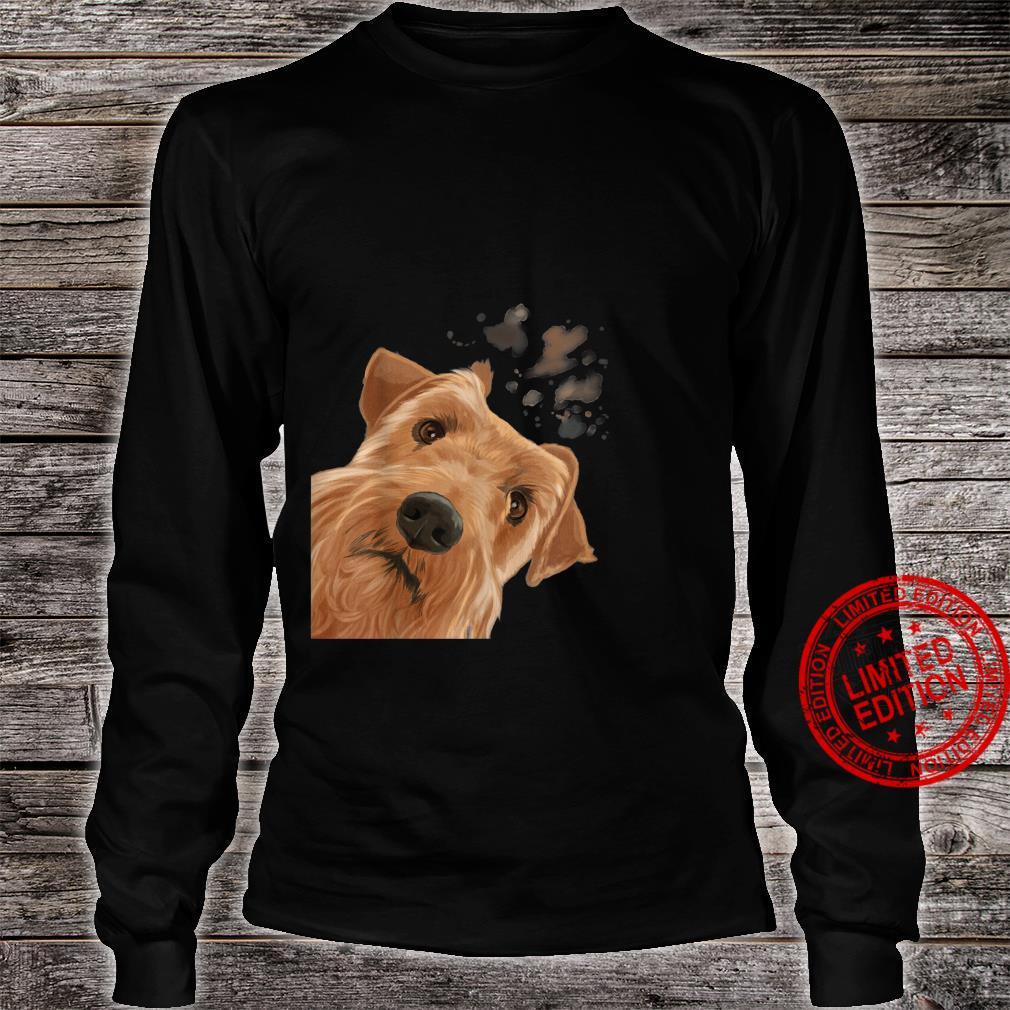 Funny Curious Dog Irish Terrier Shirt long sleeved