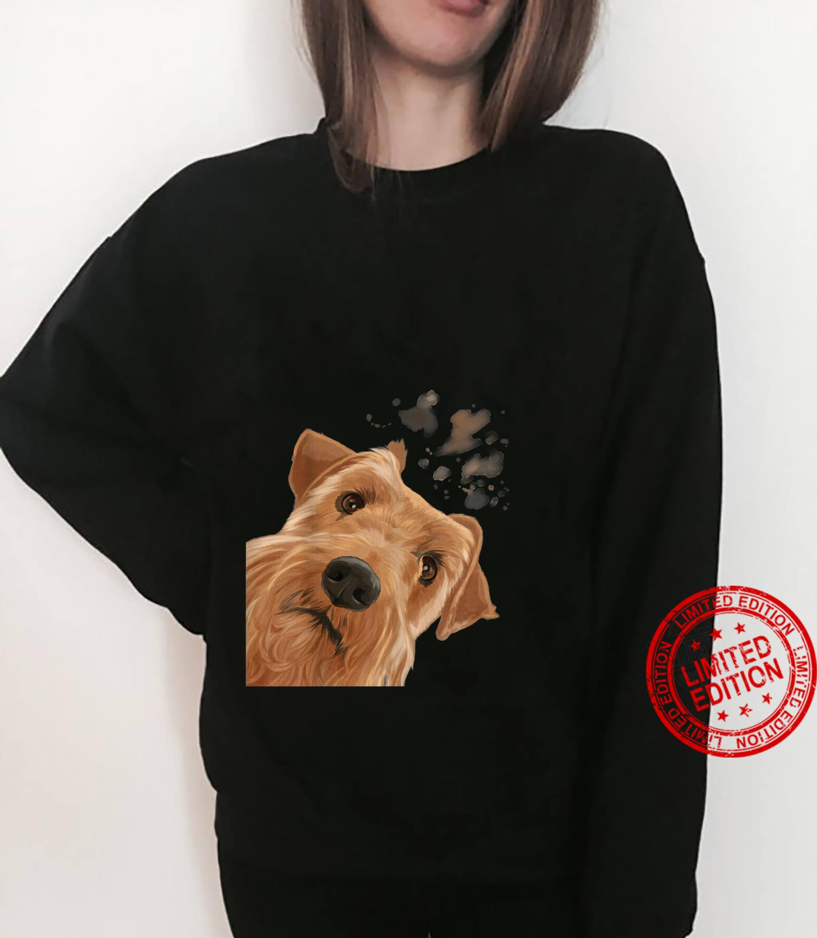 Funny Curious Dog Irish Terrier Shirt sweater
