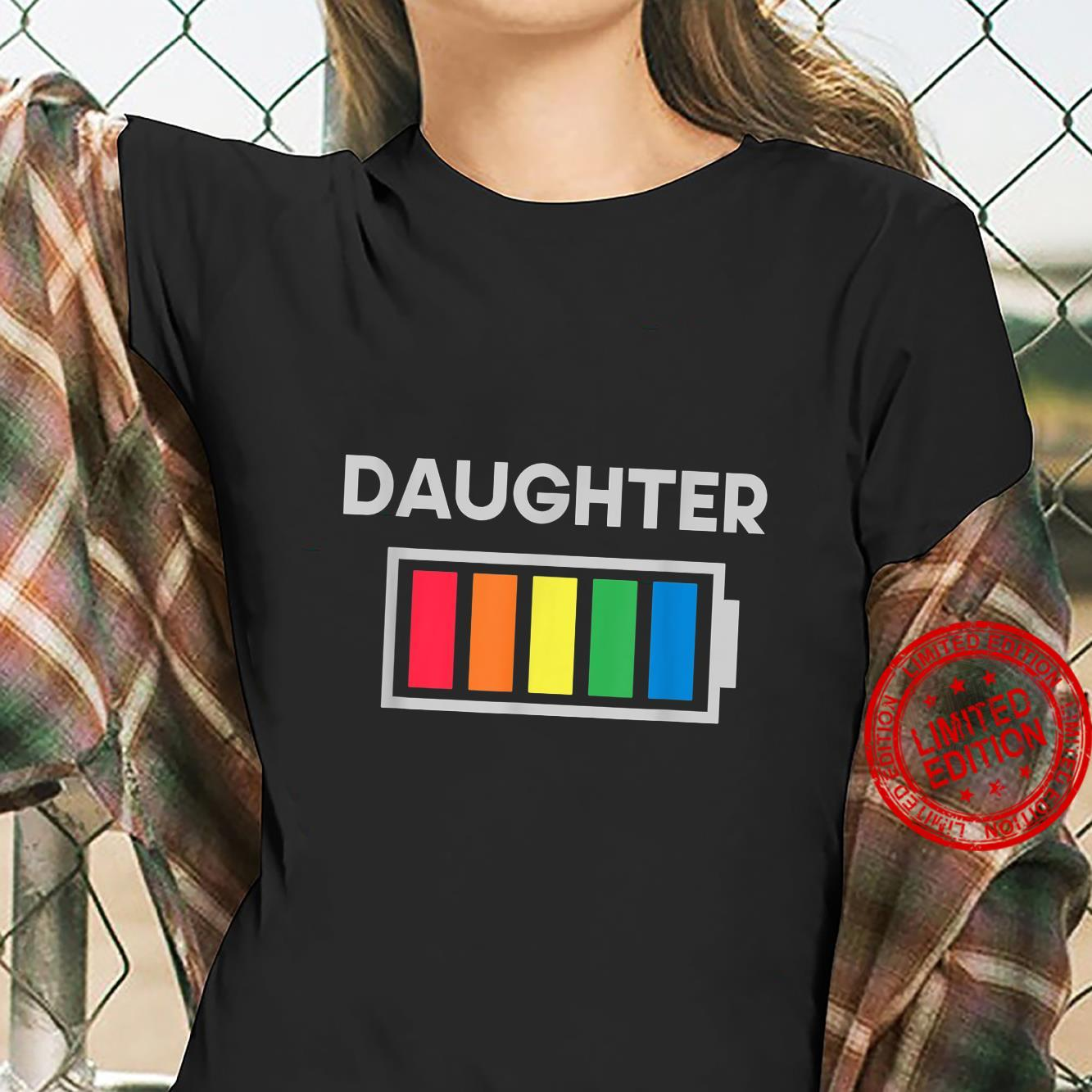 Funny Nerdy Daughter Full Battery Never Tired Shirt ladies tee