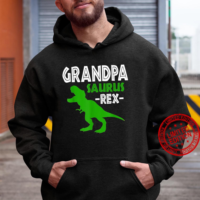 Grandpasaurus T Rex Dinosaur Grandpa Saurus Family Matching Shirt hoodie