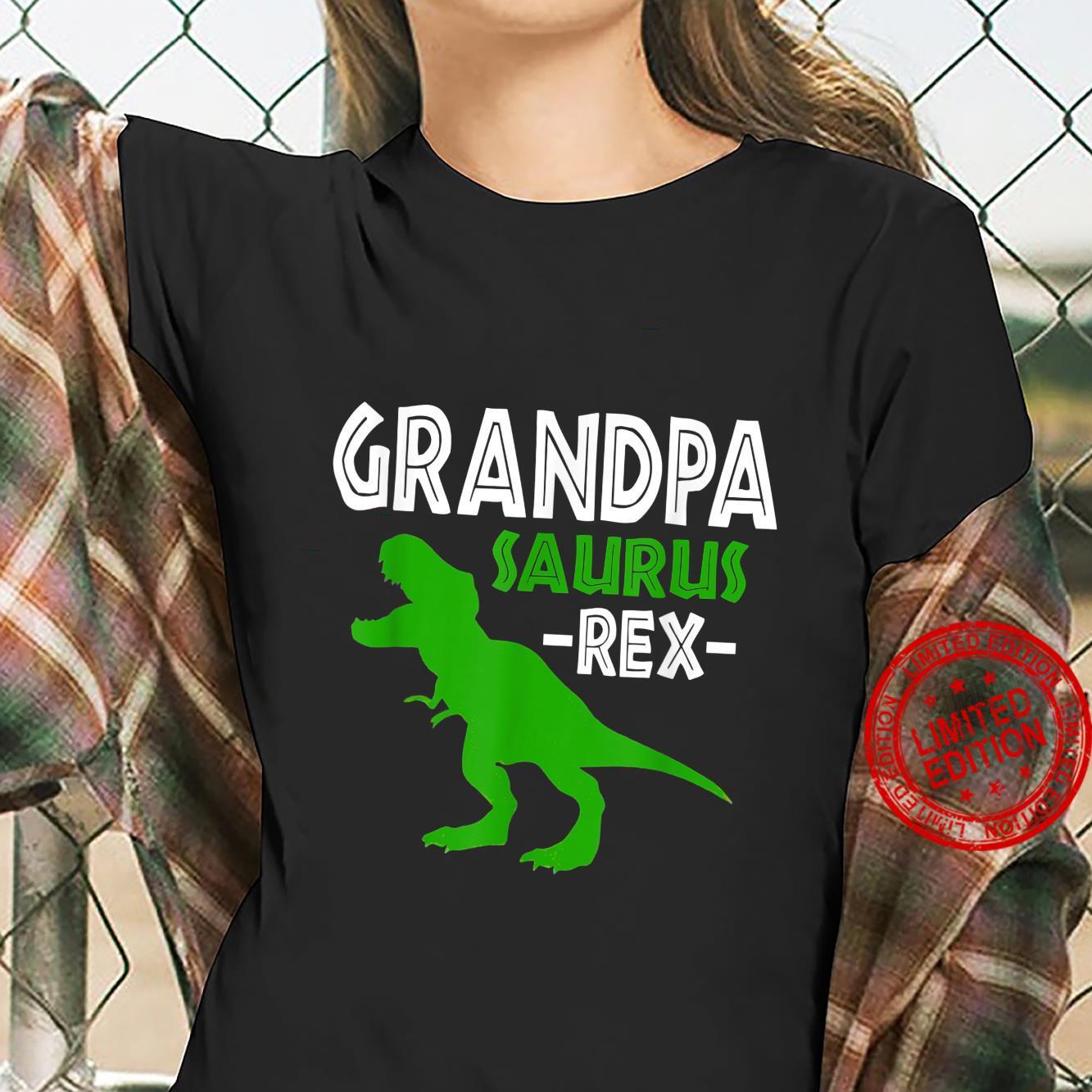 Grandpasaurus T Rex Dinosaur Grandpa Saurus Family Matching Shirt ladies tee