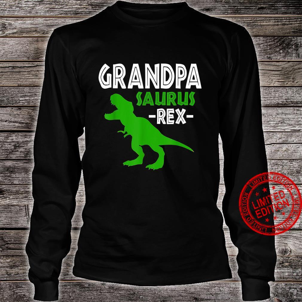 Grandpasaurus T Rex Dinosaur Grandpa Saurus Family Matching Shirt long sleeved
