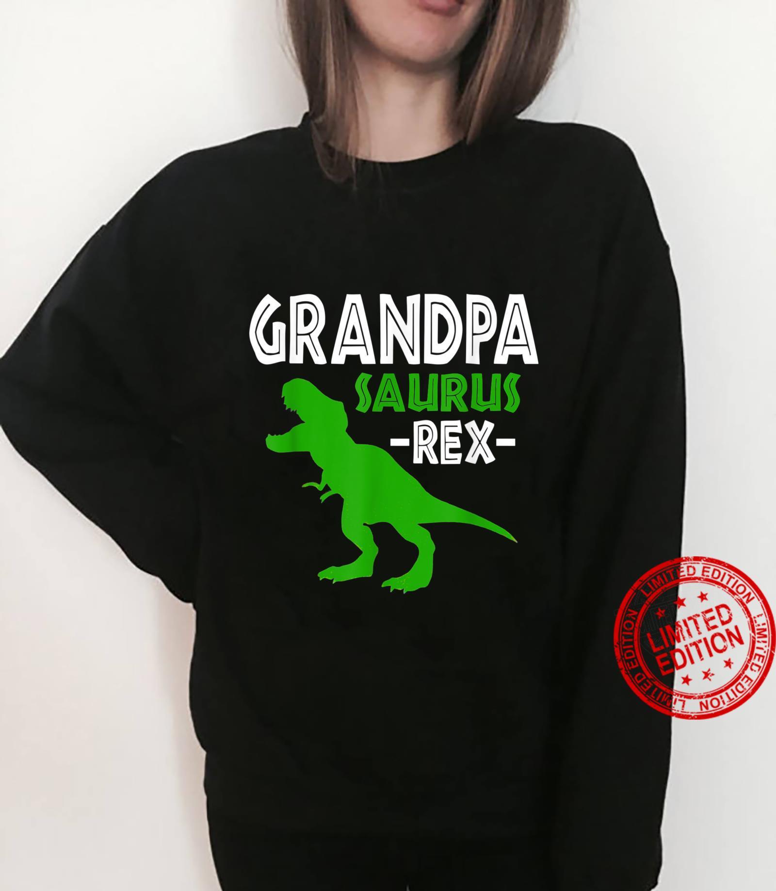 Grandpasaurus T Rex Dinosaur Grandpa Saurus Family Matching Shirt sweater