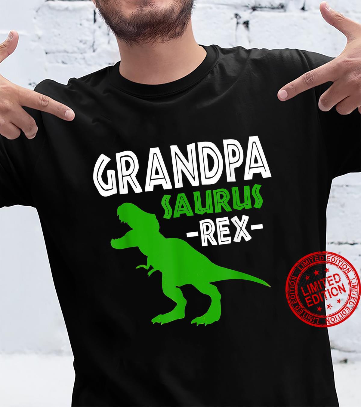 Grandpasaurus T Rex Dinosaur Grandpa Saurus Family Matching Shirt