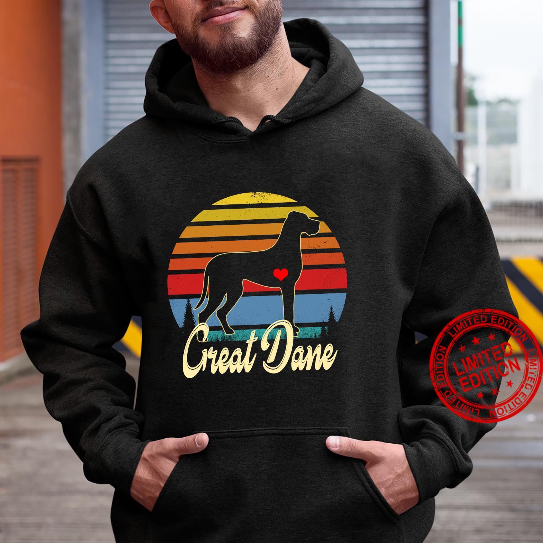 Great Dane Vintage Silhouette 60s 70s Retro Dog Shirt hoodie