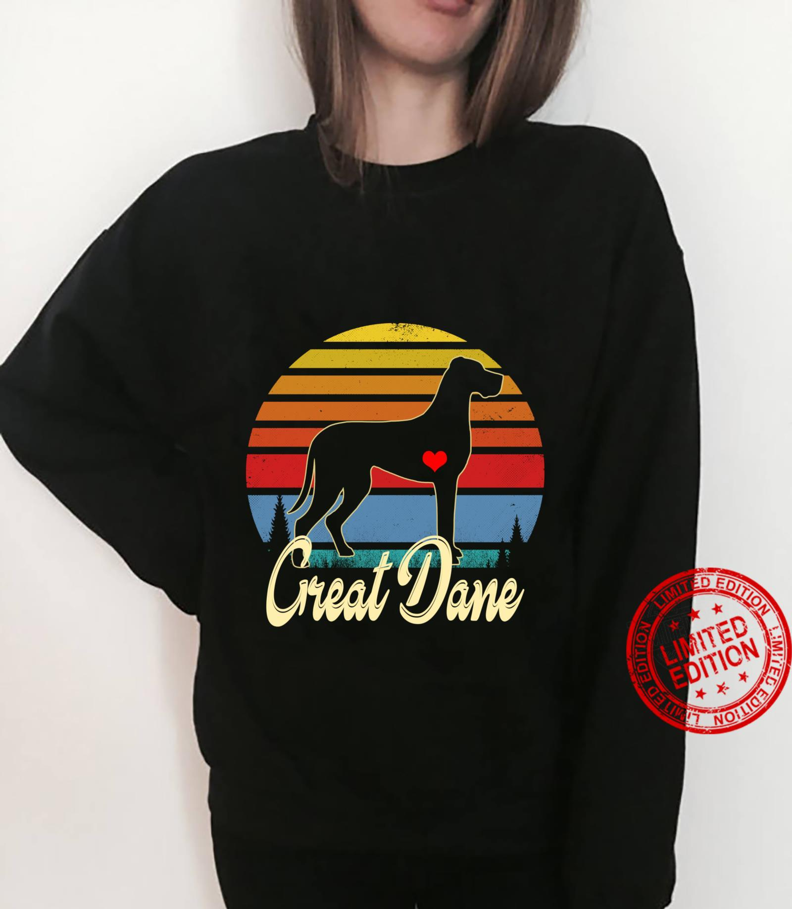 Great Dane Vintage Silhouette 60s 70s Retro Dog Shirt sweater