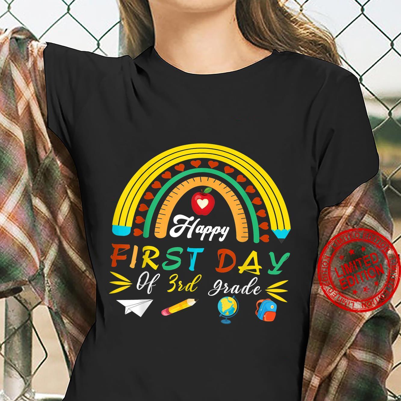 Happy First Day Of Third Grade Back To School Boys Girls Kid Shirt ladies tee