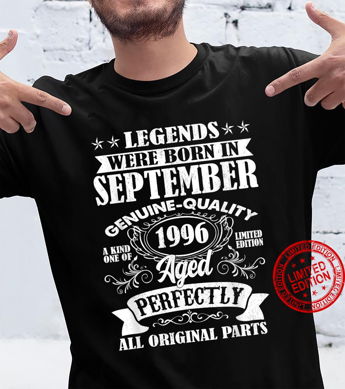 Legends Were Born In September 1996 25Th Birthday Shirt