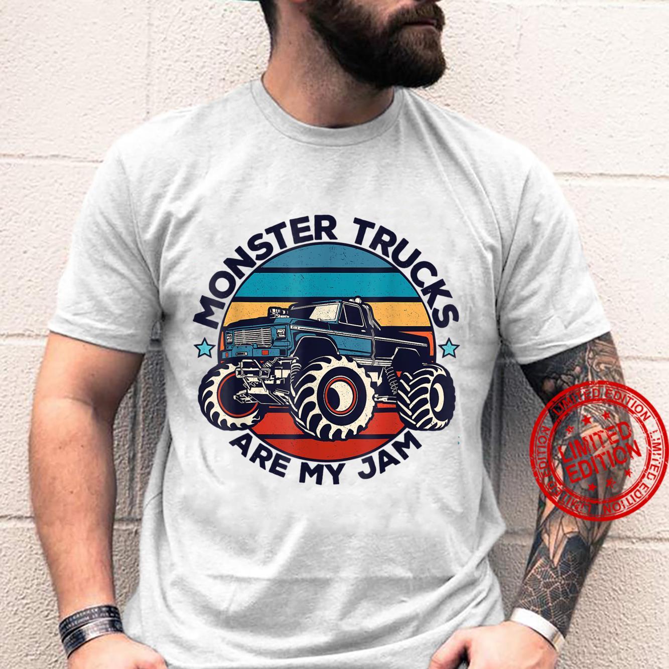 Monster Trucks Are My Jam Truck Mechanic Racer Shirt