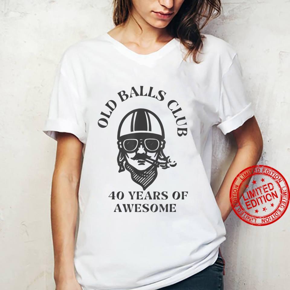 Old Balls Club 40th Birthday, Dad Turning 40 Shirt ladies tee