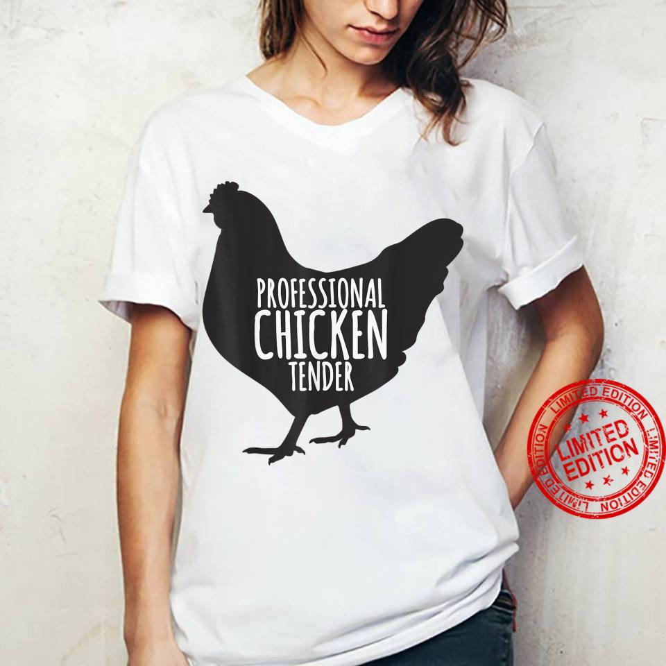 Professional Chicken Tender Chicken Lady Silhouette Shirt ladies tee