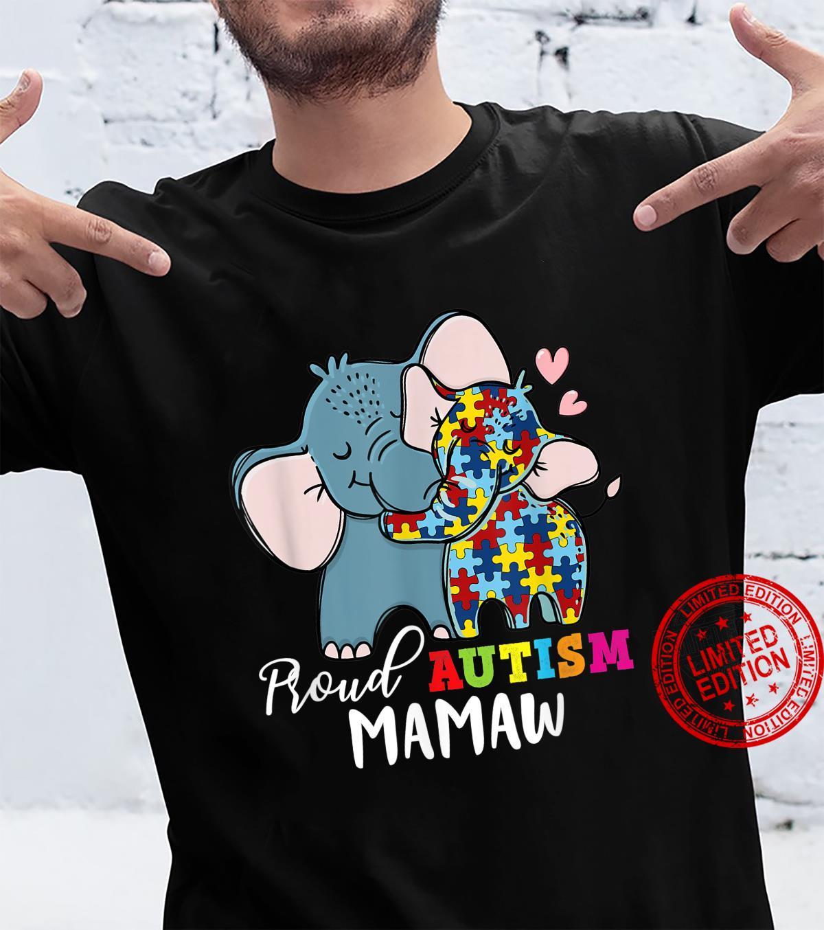 Proud Mamaw Autism Awareness Family Matching Shirt