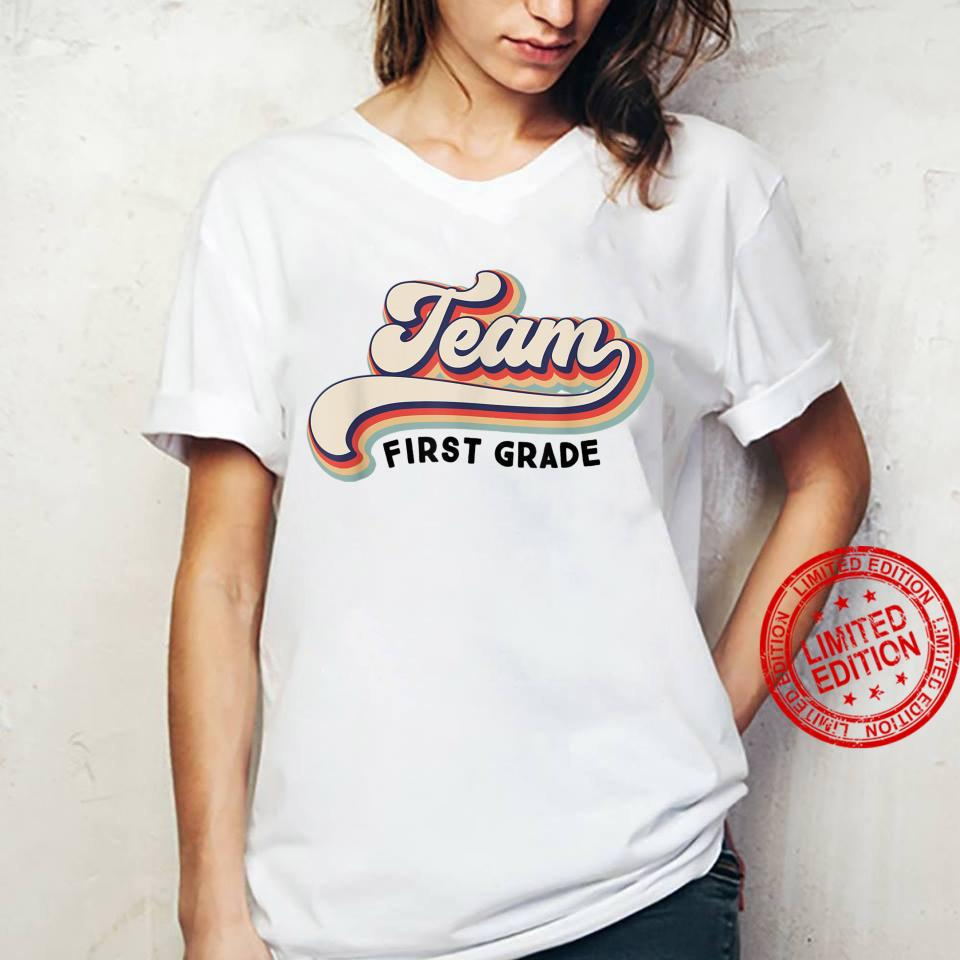Py7P Vintage Team First Grade Teacher First Day Of School Shirt ladies tee