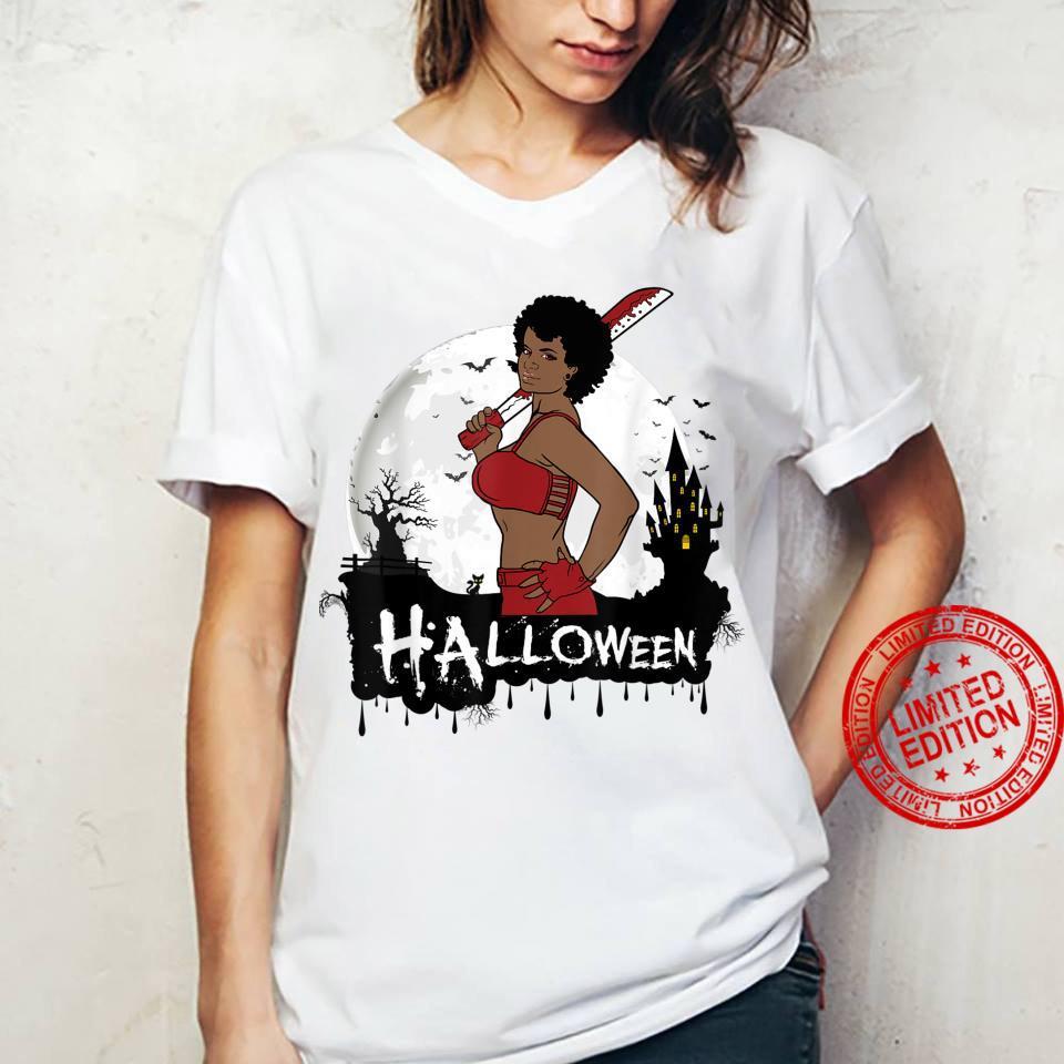 Sexy Black Girl Magic Halloween Costume Melanin Queen Afro Shirt ladies tee