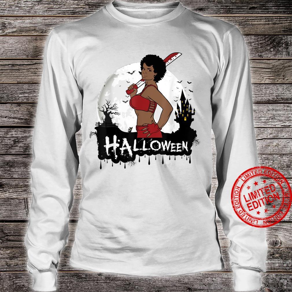 Sexy Black Girl Magic Halloween Costume Melanin Queen Afro Shirt long sleeved