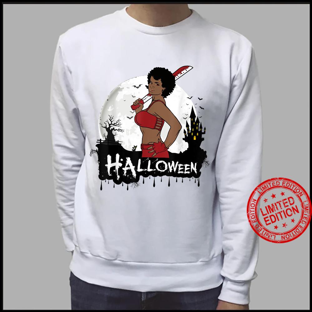 Sexy Black Girl Magic Halloween Costume Melanin Queen Afro Shirt sweater