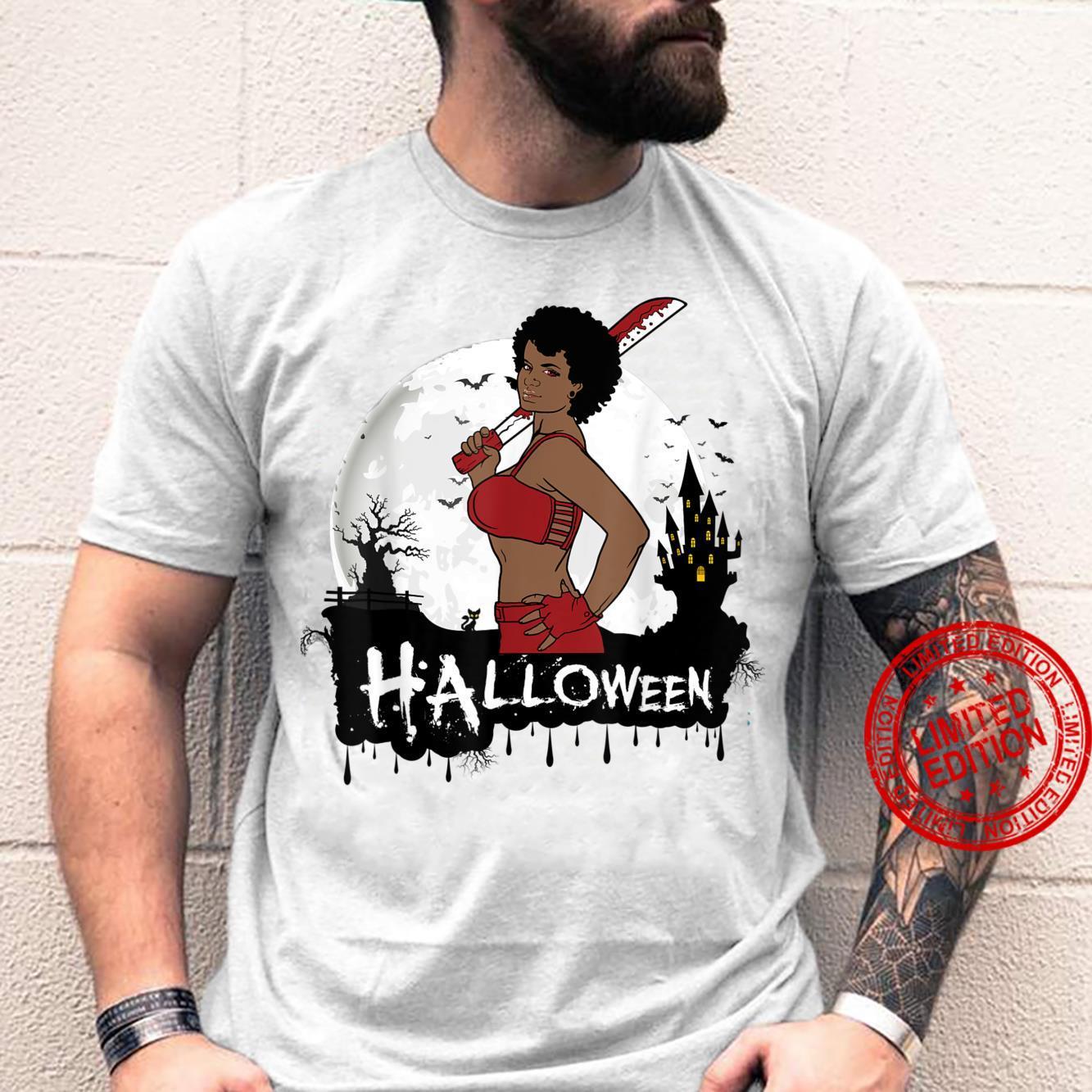 Sexy Black Girl Magic Halloween Costume Melanin Queen Afro Shirt