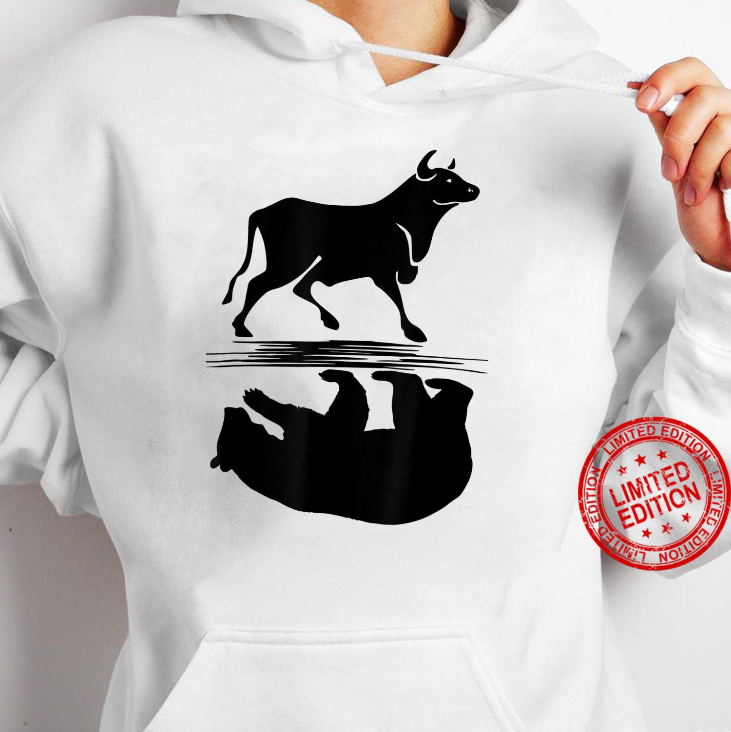 Stock Market Bull Bear Investing Trading Money Cash Shirt hoodie
