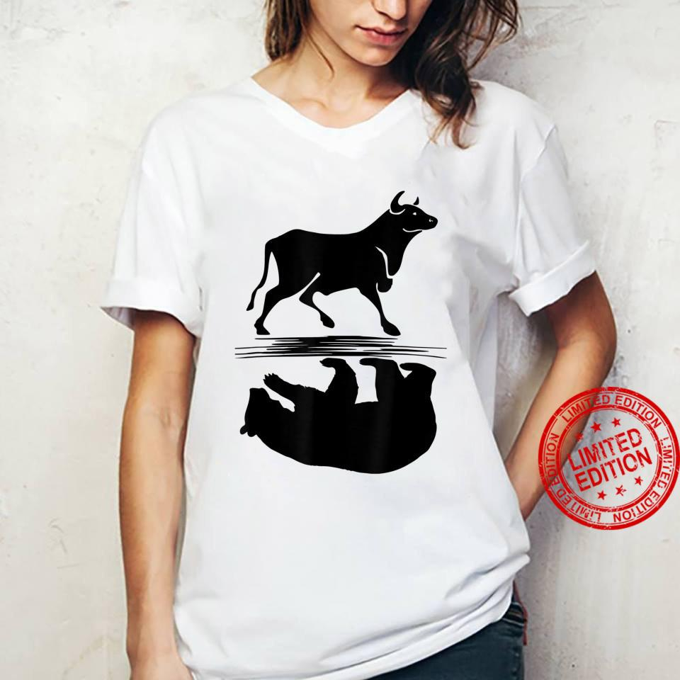 Stock Market Bull Bear Investing Trading Money Cash Shirt ladies tee