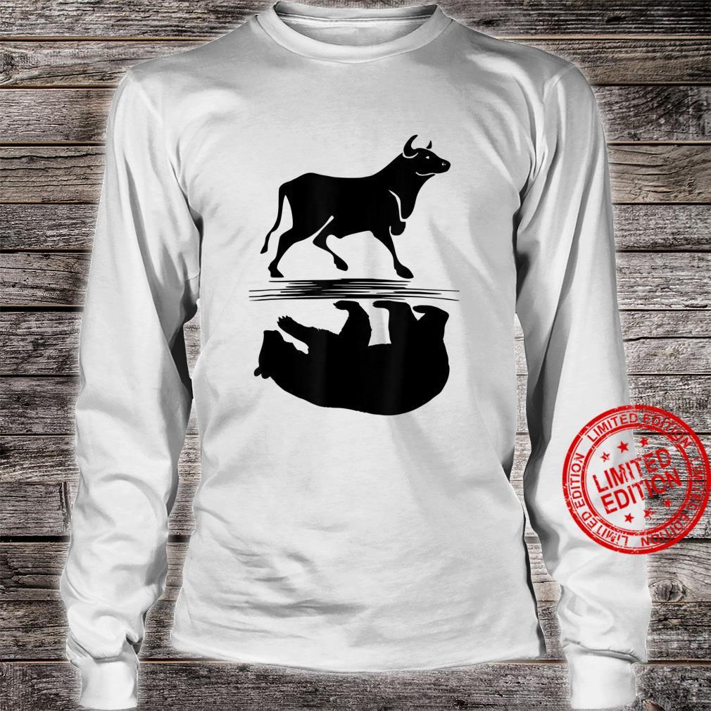 Stock Market Bull Bear Investing Trading Money Cash Shirt long sleeved