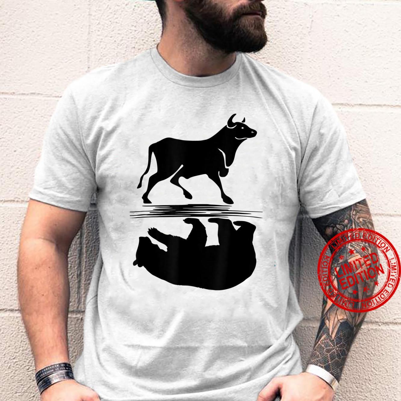 Stock Market Bull Bear Investing Trading Money Cash Shirt