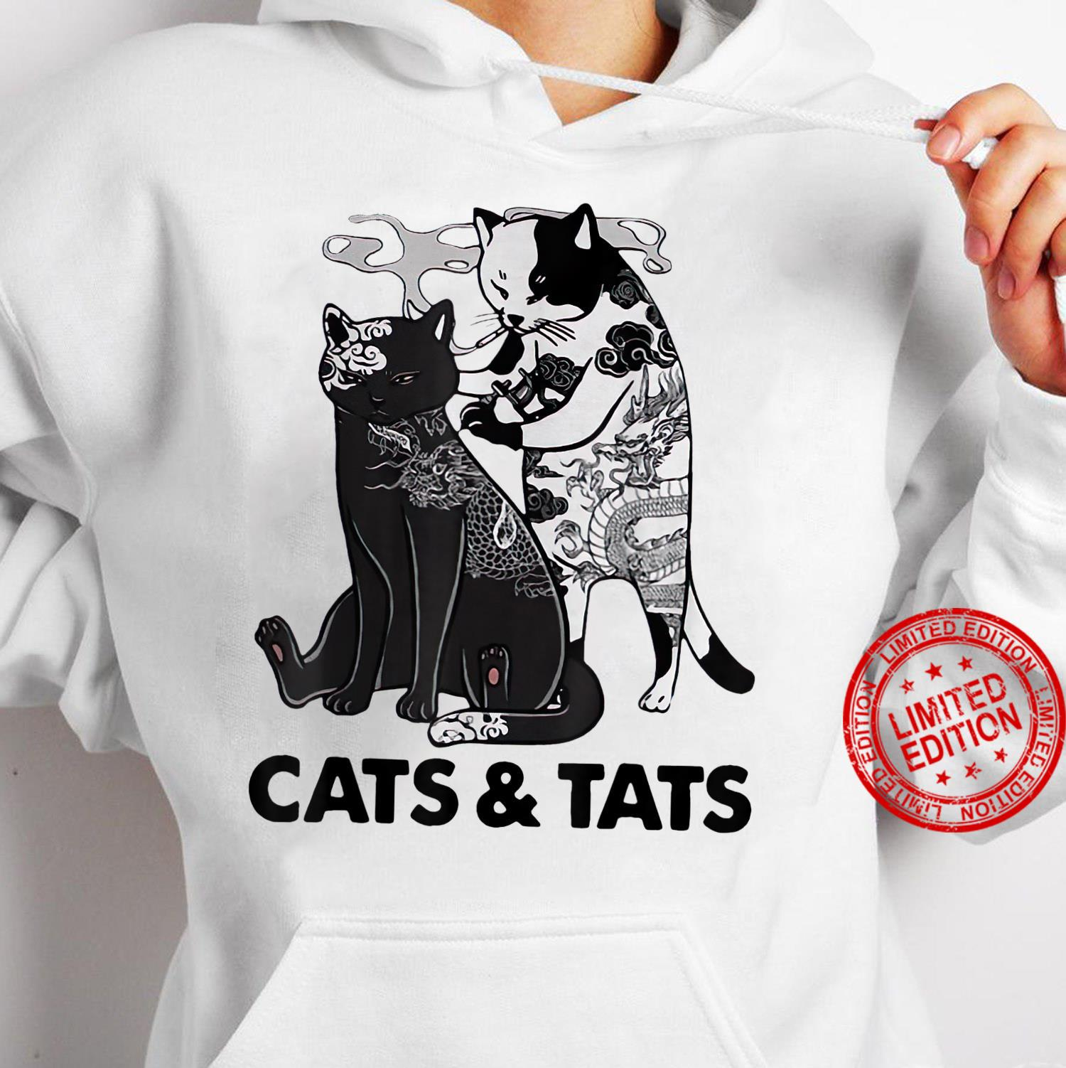 Tattoos Cats And Tats Kitty Pet Owner Shirt hoodie
