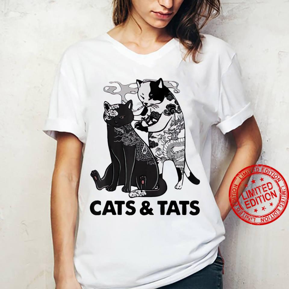 Tattoos Cats And Tats Kitty Pet Owner Shirt ladies tee