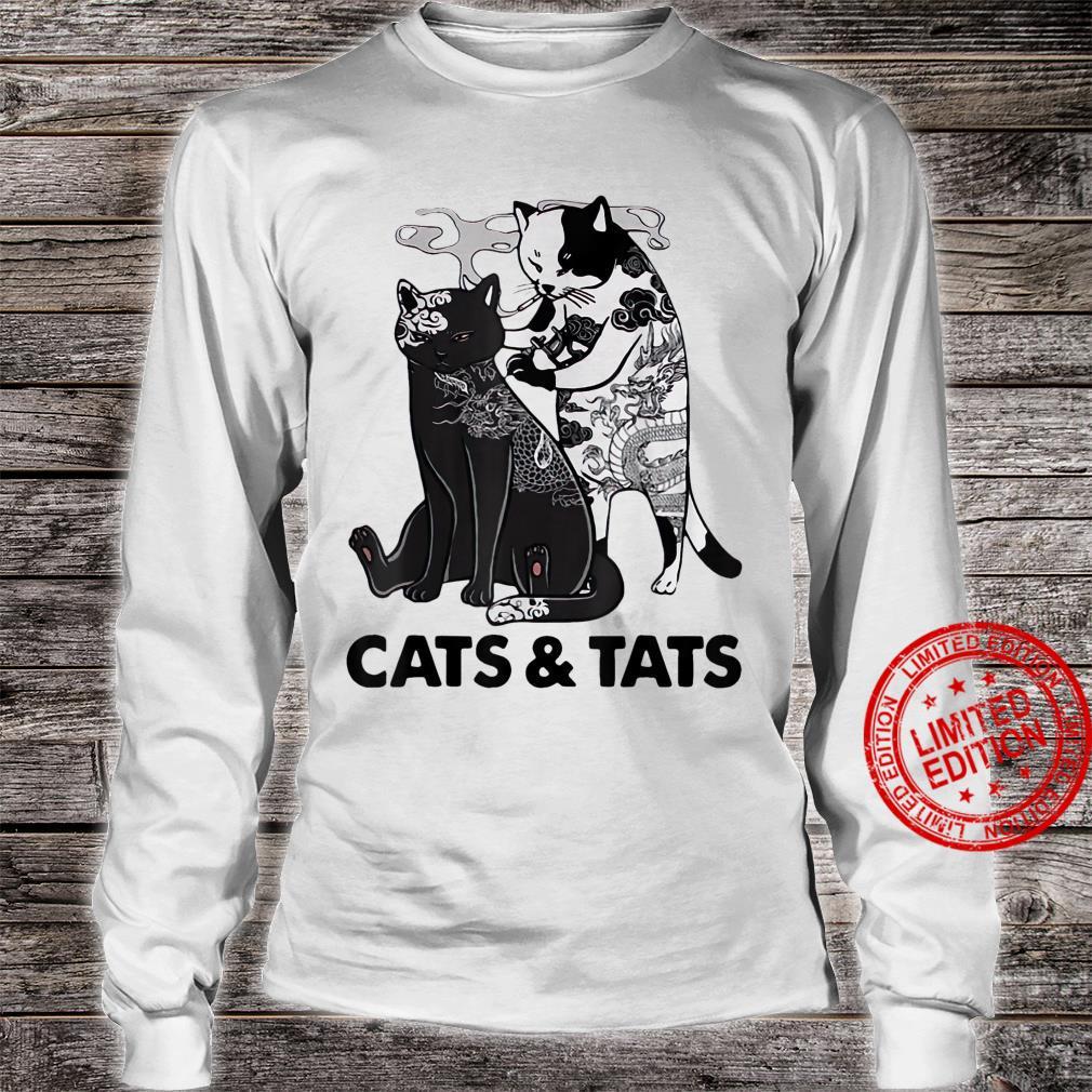 Tattoos Cats And Tats Kitty Pet Owner Shirt long sleeved