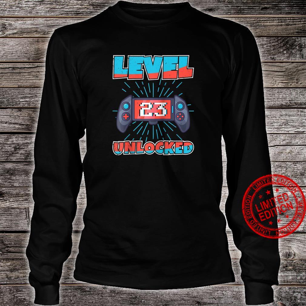 Video Games Level 23 Unlocked Gamer 23th Birthday Shirt long sleeved