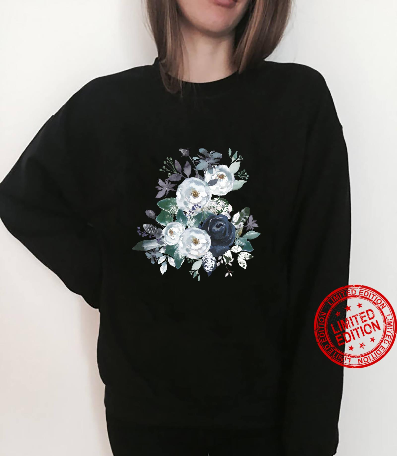Vintage Flower Bouquet Blue Peony Floral Botanical Gardener Shirt sweater