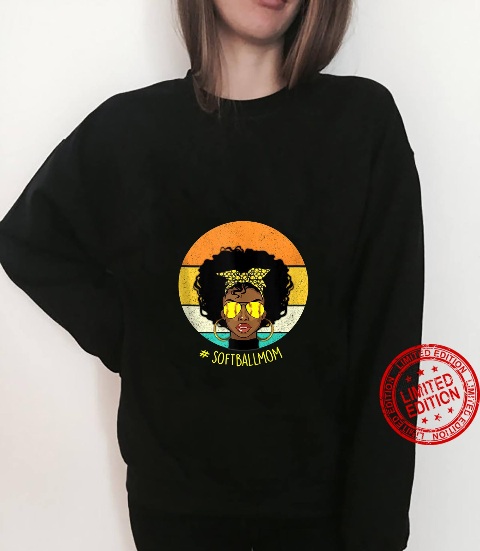 Vintage Softball Mom Black African American Afro Shirt sweater