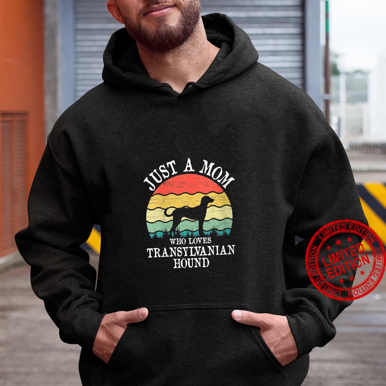 Womens Just A Mom Who Loves Transylvanian Hound Dog Mom Shirt hoodie