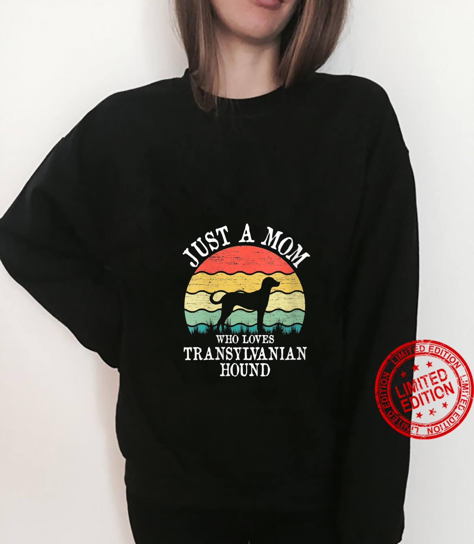 Womens Just A Mom Who Loves Transylvanian Hound Dog Mom Shirt sweater