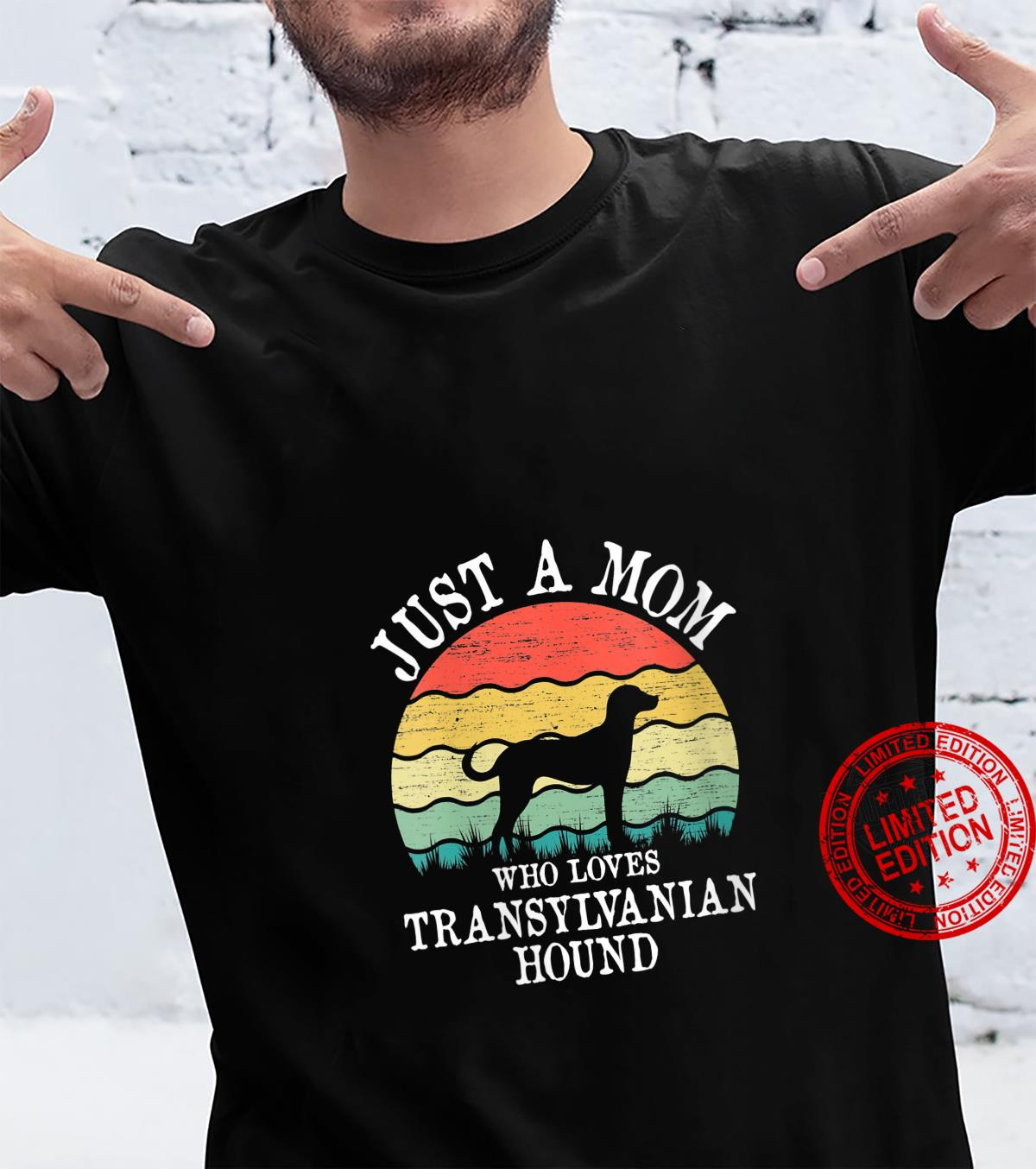 Womens Just A Mom Who Loves Transylvanian Hound Dog Mom Shirt
