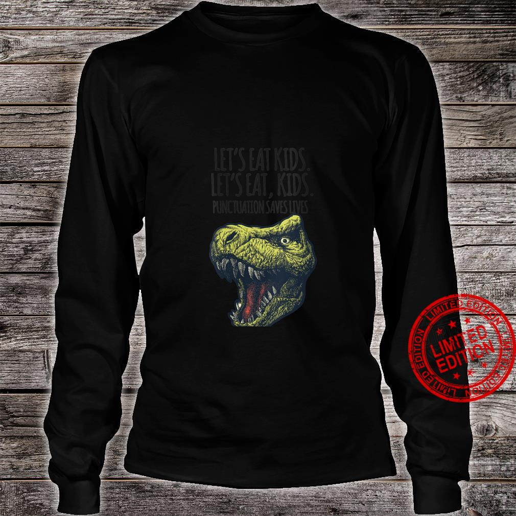 Womens Lets Eat Punctuation Saves Lives Grammar School Shirt long sleeved