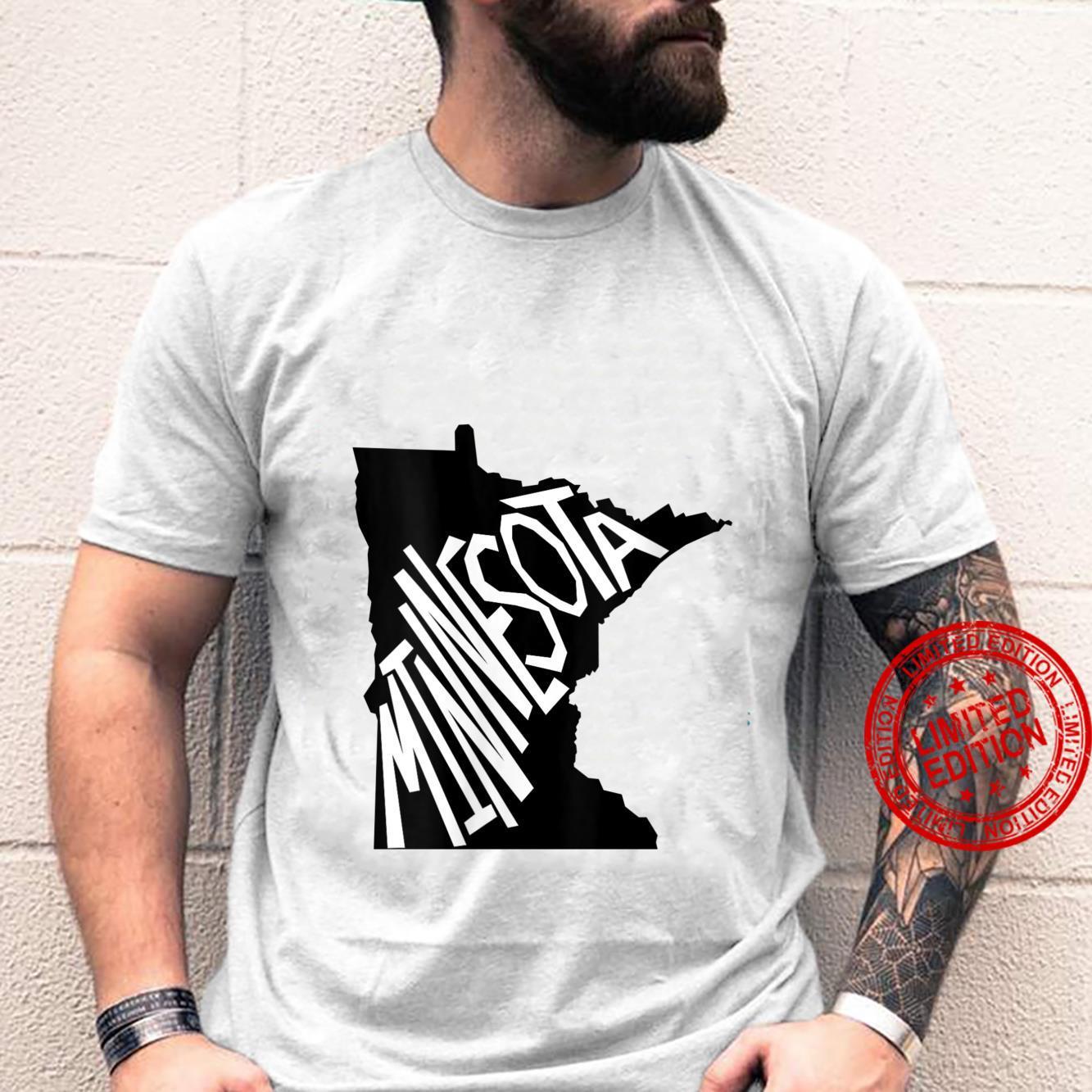 Womens MinnesotaMap Word Design Shirt