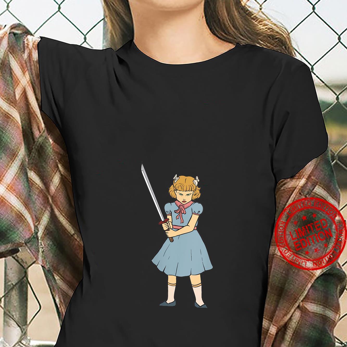 Womens Ninja Sword Girl Gothic Punk Goth Martial Art Horror Shirt ladies tee