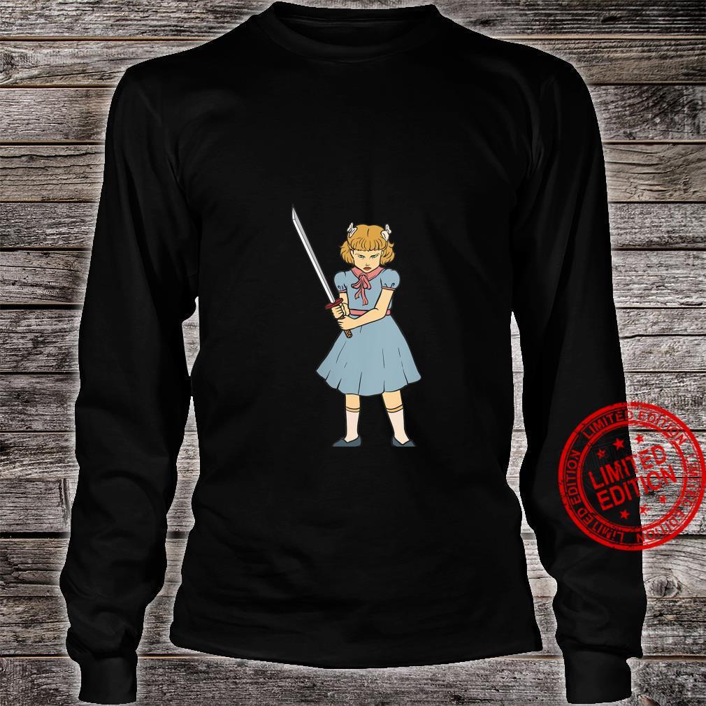Womens Ninja Sword Girl Gothic Punk Goth Martial Art Horror Shirt long sleeved