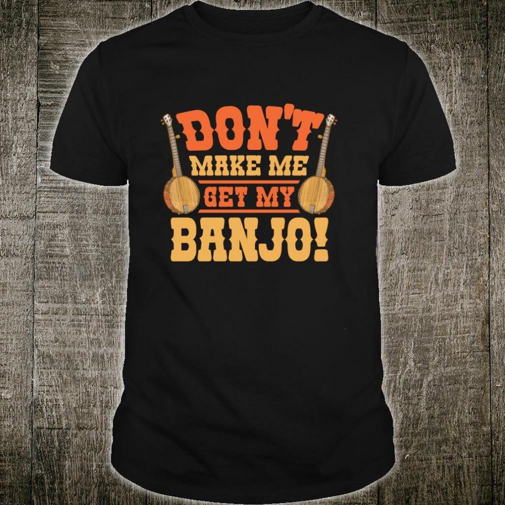 Banjo Vintage Retro Bluegrass Music Fans Banjo Player Shirt