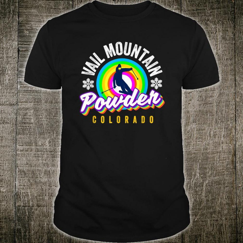 Cool Vail Pass CO Snowboarder Retro Colorado Vail CO Skier Shirt