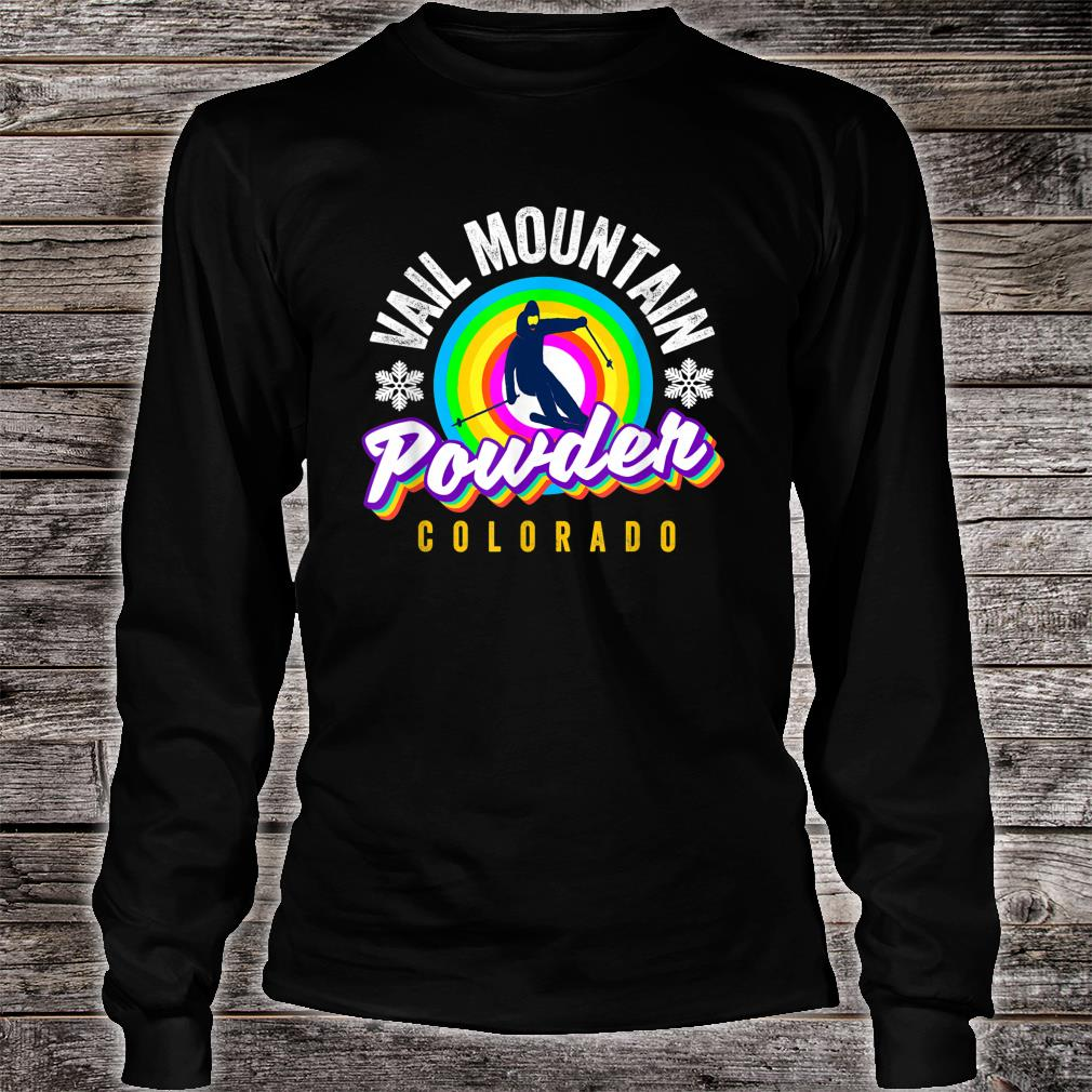 Cool Vail Pass CO Snowboarder Retro Colorado Vail CO Skier Shirt long sleeved